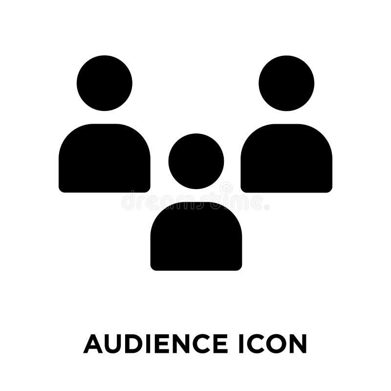 Vector del icono de la audiencia aislado en el fondo blanco, concepto del logotipo libre illustration