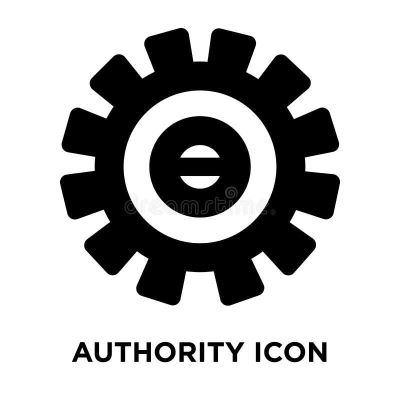 Vector del icono de la autoridad aislado en el fondo blanco, concepto del logotipo libre illustration