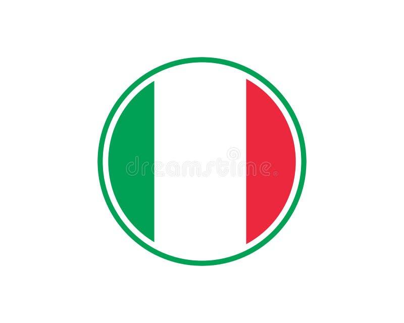 vector del icono de la bandera de Italia ilustración del vector