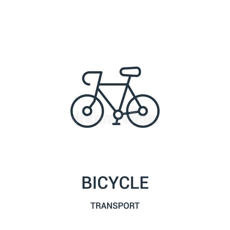 vector del icono de la bicicleta de la colección del transporte L?nea fina ejemplo del vector del icono del esquema de la bicicle ilustración del vector