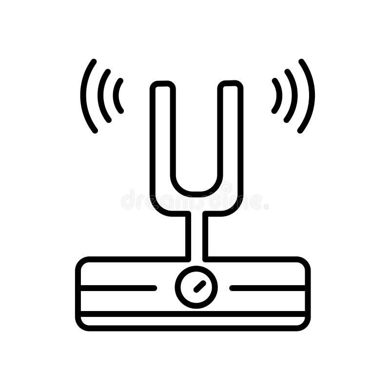 Vector del icono de la bifurcación de los sonidos aislado en la muestra blanca del fondo, de la bifurcación de los sonidos, la mu libre illustration