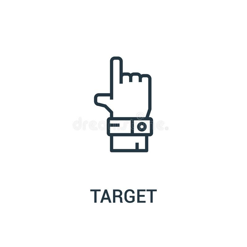 vector del icono de la blanco de la colección del seo Línea fina ejemplo del vector del icono del esquema de la blanco Símbolo li ilustración del vector