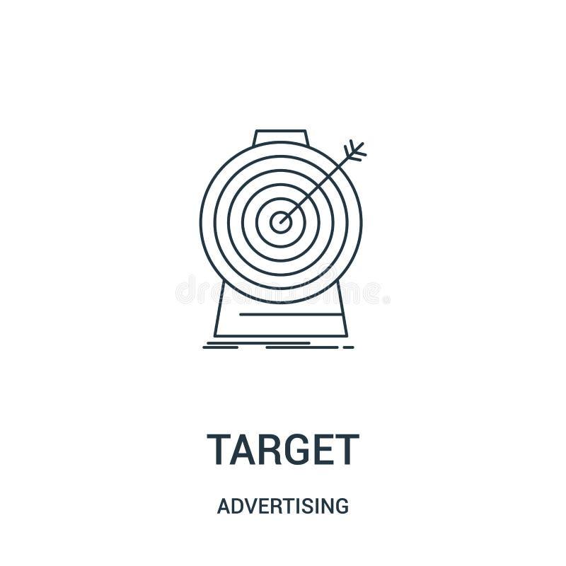 vector del icono de la blanco de hacer publicidad la colección Línea fina ejemplo del vector del icono del esquema de la blanco S ilustración del vector