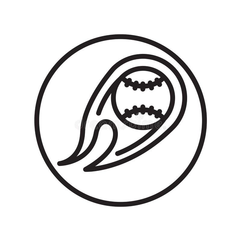 Vector del icono de la bola aislado en el fondo blanco, muestra de la bola, símbolos lineares del deporte libre illustration