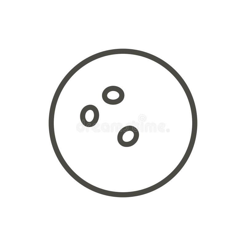 Vector del icono de la bola de bolos Línea símbolo del juego de diversión libre illustration