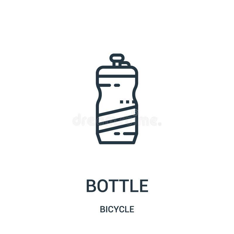 vector del icono de la botella de la colección de la bicicleta Línea fina ejemplo del vector del icono del esquema de la botella  libre illustration