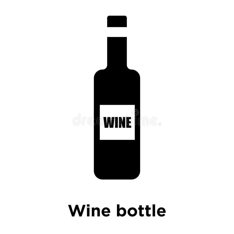 Vector del icono de la botella de vino aislado en el fondo blanco, conce del logotipo stock de ilustración