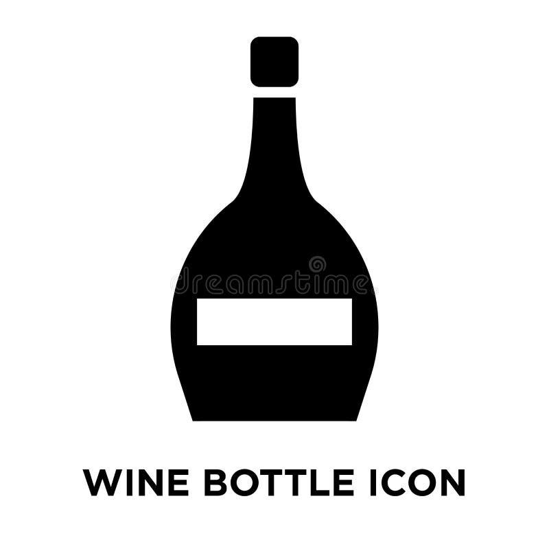 Vector del icono de la botella de vino aislado en el fondo blanco, conce del logotipo libre illustration