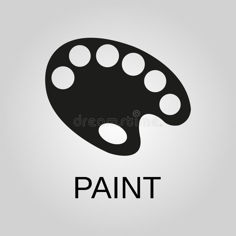 Vector del icono de la brocha, ejemplo sólido del logotipo, pictograma aislado en gris libre illustration