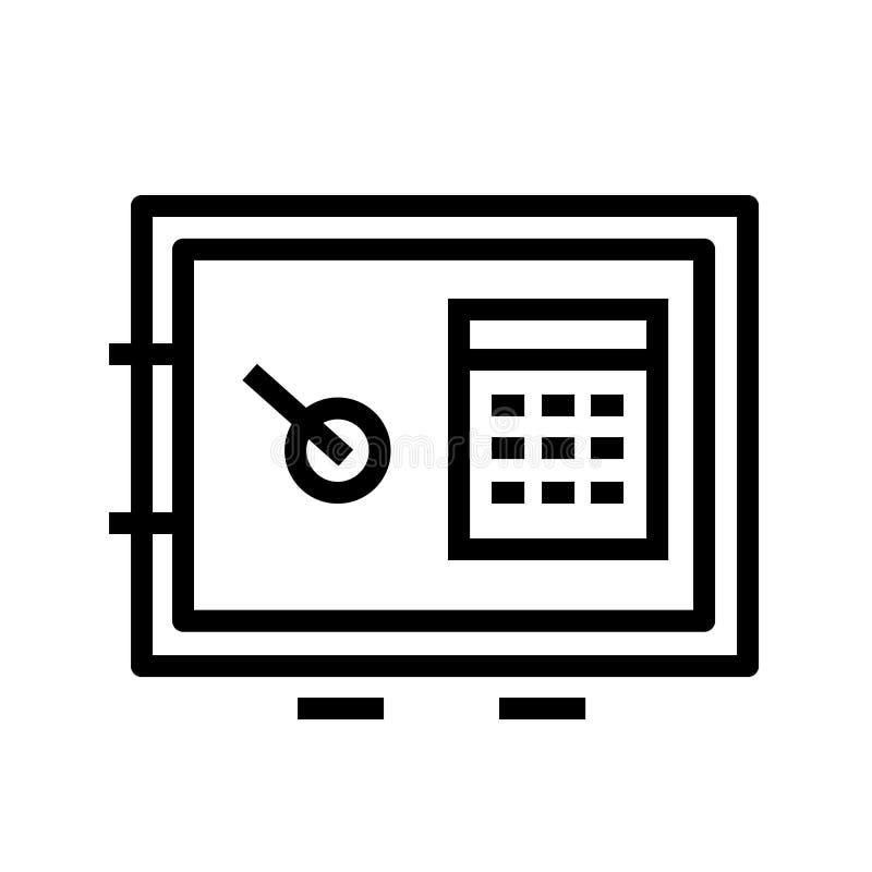 Vector del icono de la cámara acorazada libre illustration