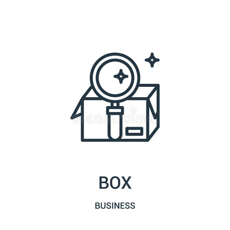 vector del icono de la caja de la colección del negocio Línea fina ejemplo del vector del icono del esquema de la caja Símbolo li libre illustration