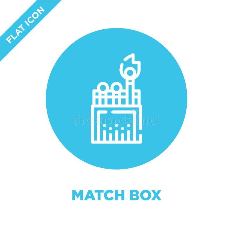 vector del icono de la caja del partido de la colección que acampa Línea fina ejemplo del vector del icono del esquema de la caja stock de ilustración