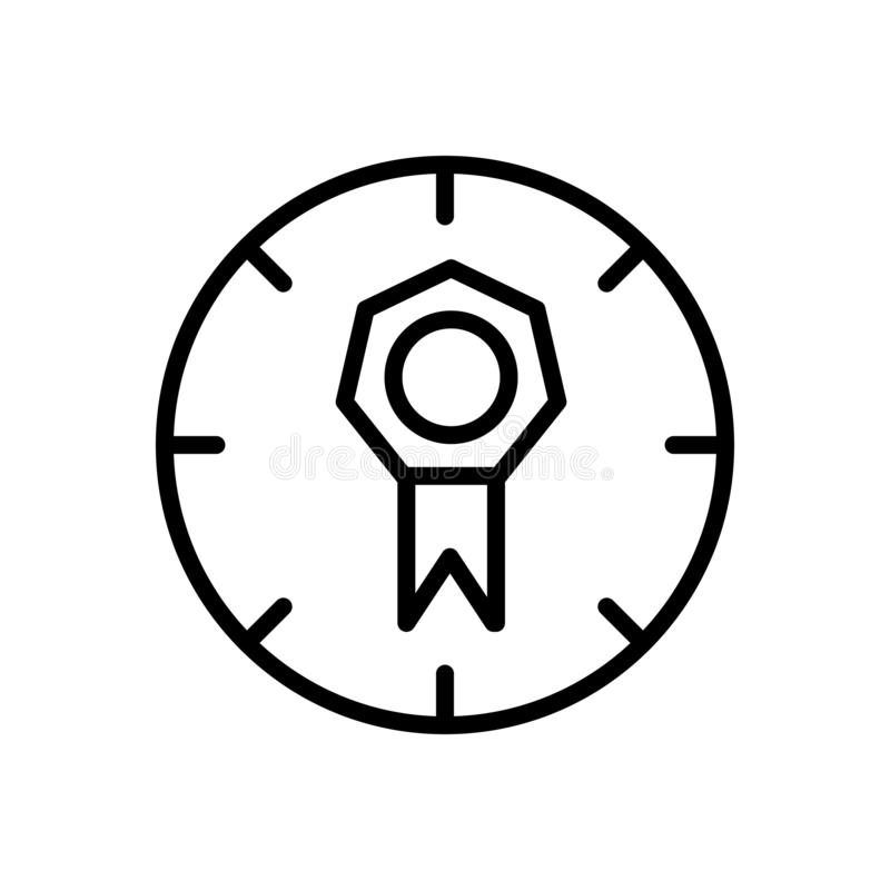 Vector del icono de la calidad aislado en el fondo, la muestra de la calidad, la línea y los elementos blancos del esquema en est libre illustration