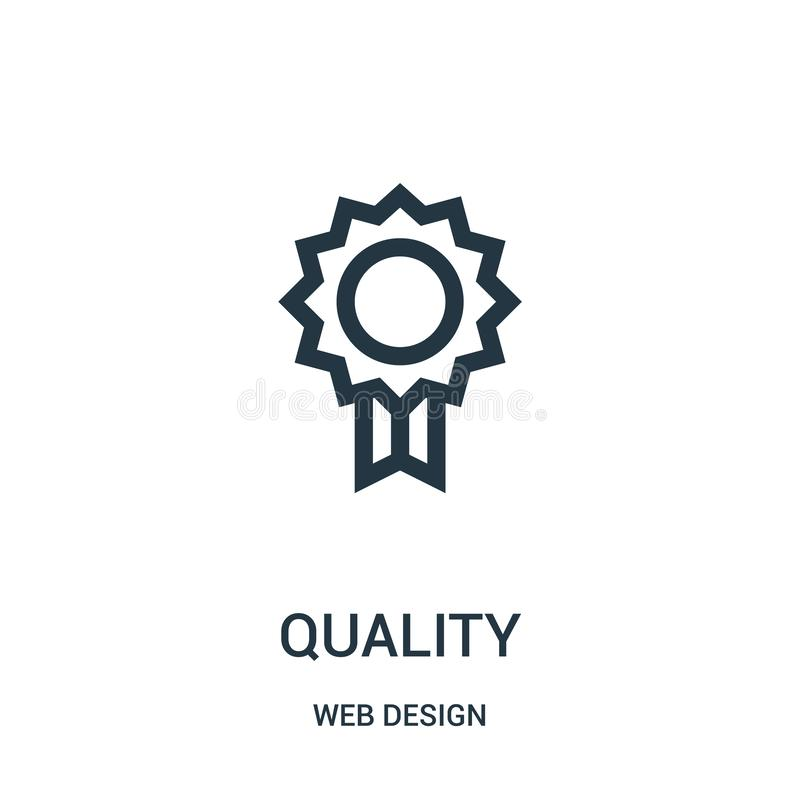 vector del icono de la calidad de la colección del diseño web L?nea fina ejemplo del vector del icono del esquema de la calidad stock de ilustración