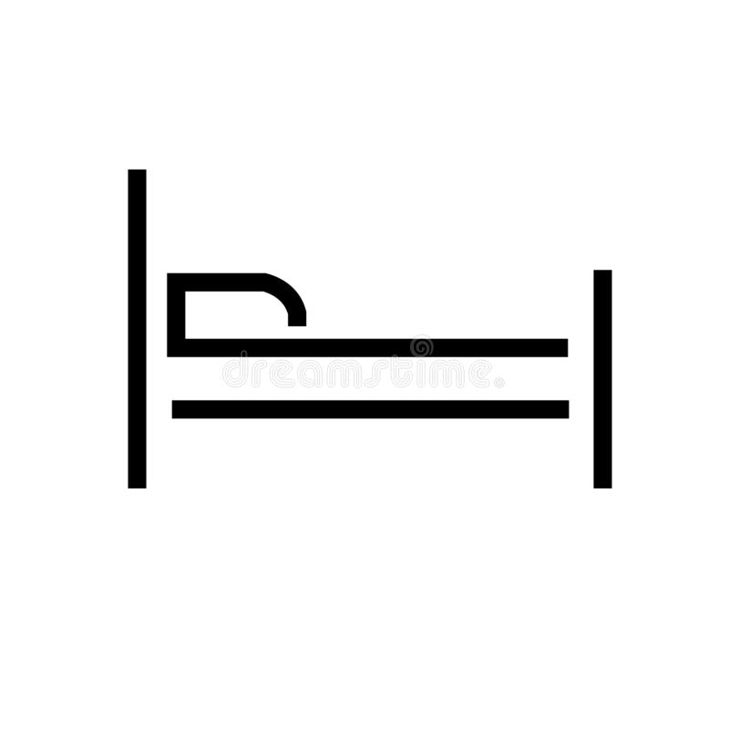 Vector del icono de la cama ilustración del vector