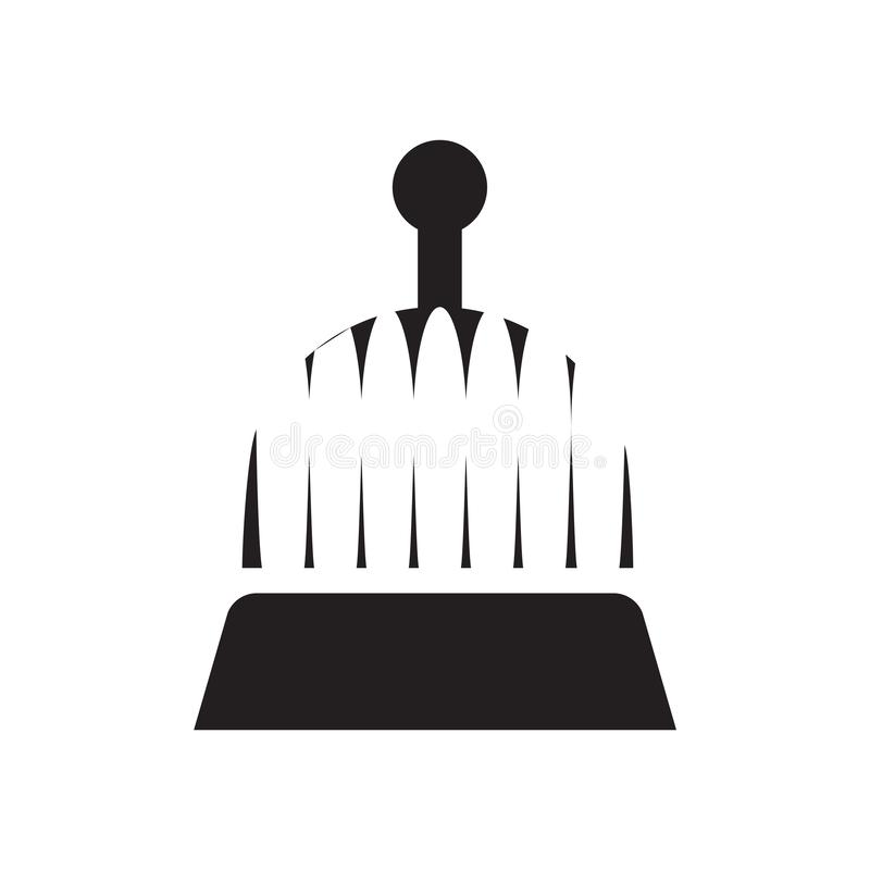 Vector del icono de la campana del hotel aislado en el fondo blanco, muestra de la campana del hotel, símbolos de las vacaciones libre illustration