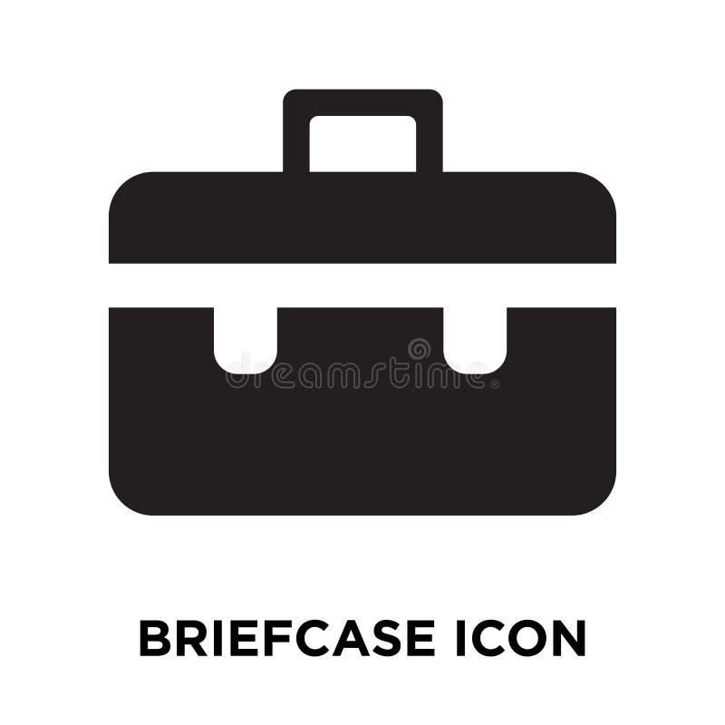 Vector del icono de la cartera aislado en el fondo blanco, concepto del logotipo stock de ilustración