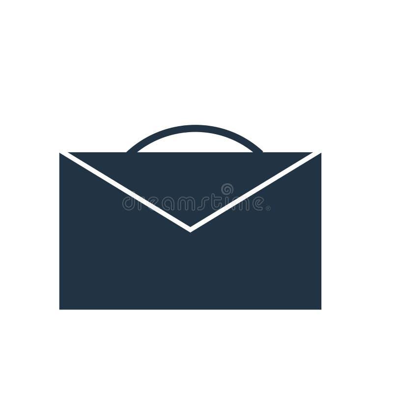 Vector del icono de la cartera aislado en el fondo blanco, cartera si stock de ilustración