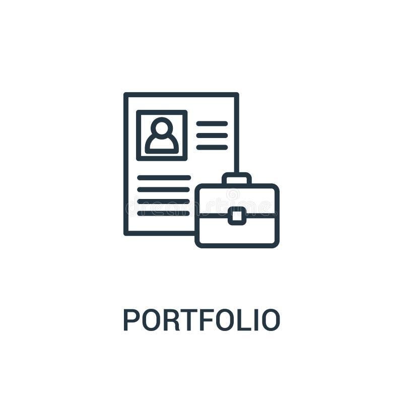 vector del icono de la cartera de la colección ágil Línea fina ejemplo del vector del icono del esquema de la cartera libre illustration