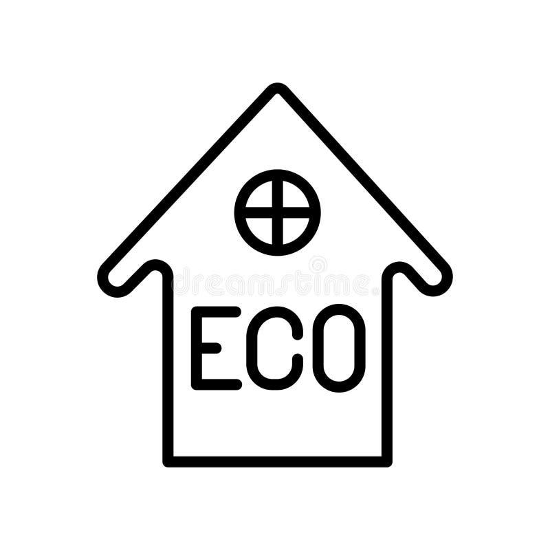 Vector del icono de la casa aislado en el fondo, la muestra de la casa, la línea y los elementos blancos del esquema en estilo li stock de ilustración