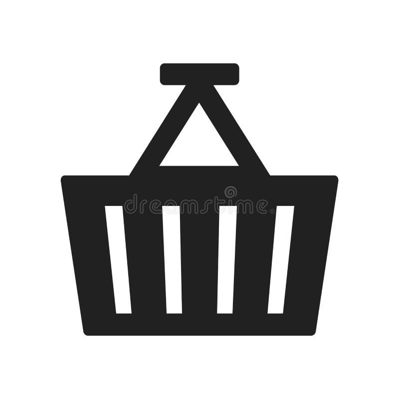 Vector del icono de la cesta aislado en el fondo blanco, muestra de la cesta, f ilustración del vector