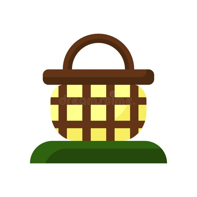 Vector del icono de la cesta aislado en el fondo blanco, muestra de la cesta, símbolos coloridos ilustración del vector