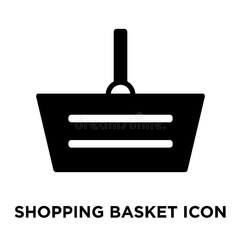 Vector del icono de la cesta de compras aislado en el fondo blanco, logotipo c libre illustration