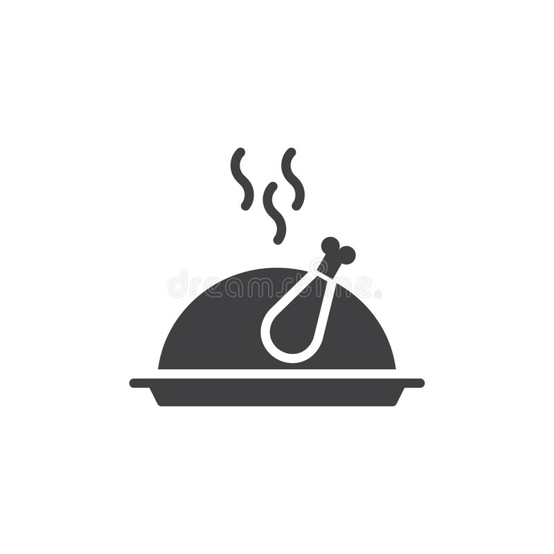 Vector del icono de la comida del pavo de la Navidad ilustración del vector