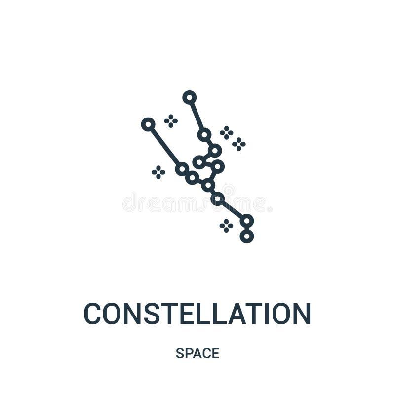 vector del icono de la constelación de la colección del espacio Línea fina ejemplo del vector del icono del esquema de la constel ilustración del vector