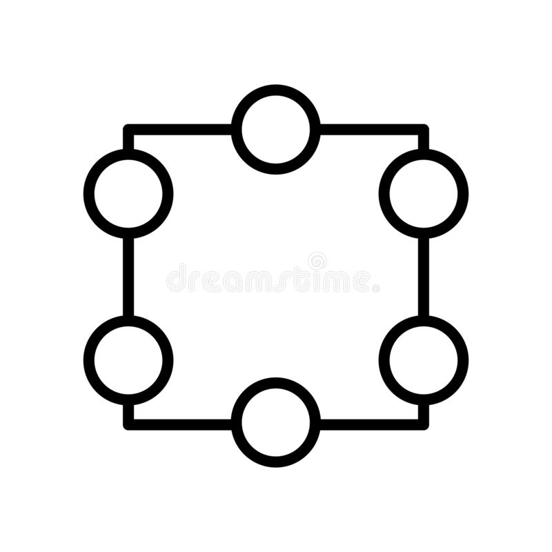 Vector del icono de la cosecha aislado en el fondo, la muestra de la cosecha, la línea y los elementos blancos del esquema en est ilustración del vector
