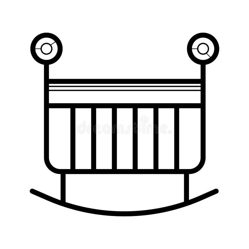 Vector del icono de la cuna libre illustration