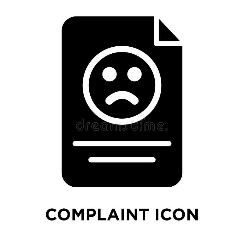 Vector del icono de la denuncia aislado en el fondo blanco, concepto del logotipo libre illustration