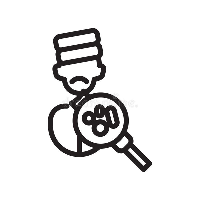 Vector del icono de la enfermedad aislado en el fondo blanco, muestra de la enfermedad stock de ilustración