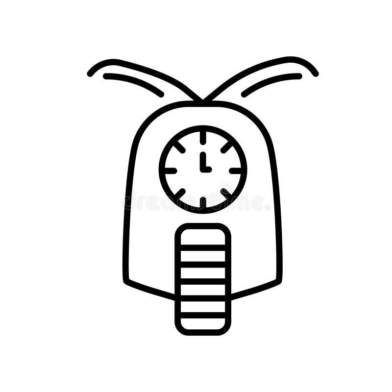 Vector del icono de la entrega aislado en el fondo blanco, muestra de la entrega, línea fina elementos del diseño en estilo del e stock de ilustración