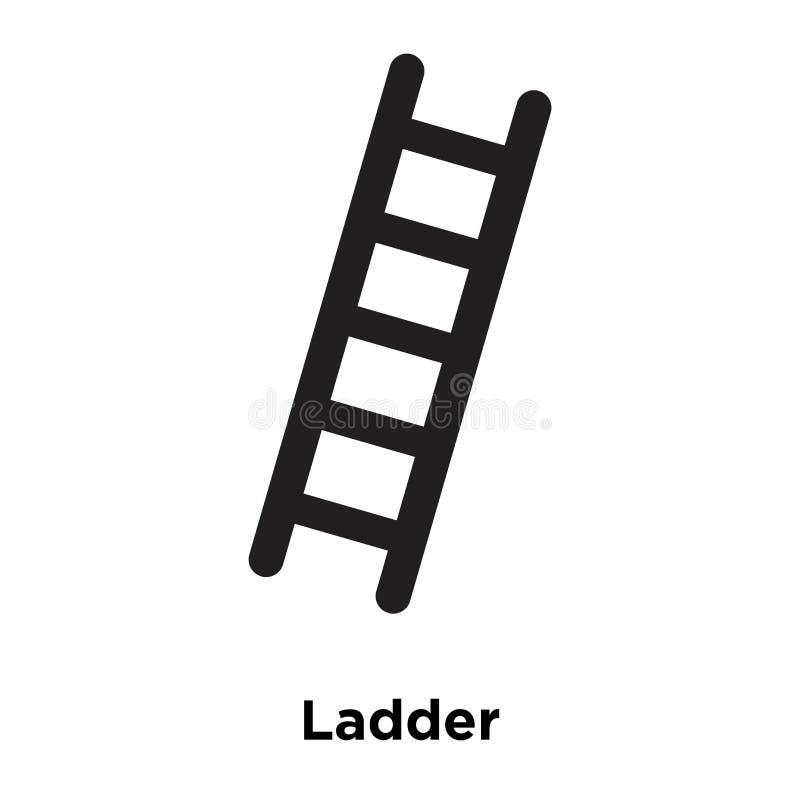 Vector del icono de la escalera aislado en el fondo blanco, concepto del logotipo de libre illustration