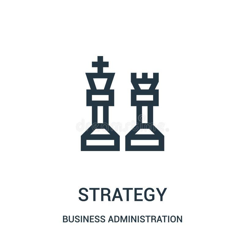 vector del icono de la estrategia de la colección de la administración de empresas L?nea fina ejemplo del vector del icono del es ilustración del vector