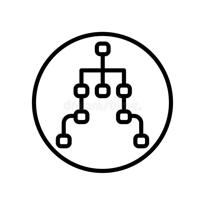 Vector del icono de la estructura aislado en el fondo blanco, muestra de la estructura ilustración del vector