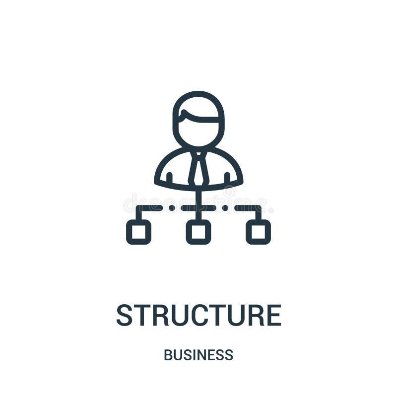 vector del icono de la estructura de la colección del negocio L?nea fina ejemplo del vector del icono del esquema de la estructur stock de ilustración