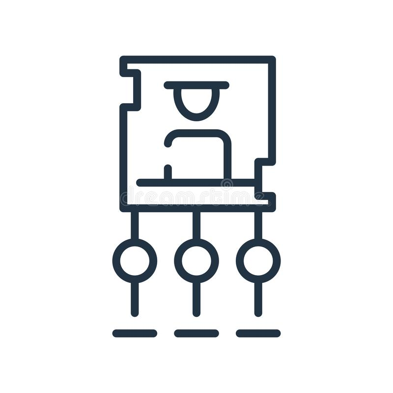 Vector del icono de la estructura jerárquica aislado en el fondo blanco, la muestra de la estructura jerárquica, la línea símbolo libre illustration