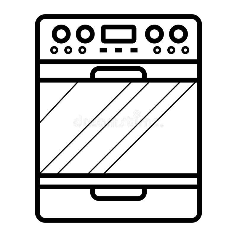 Vector del icono de la estufa libre illustration