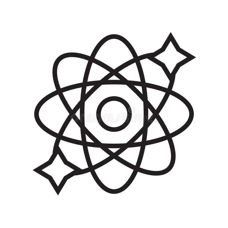 Vector del icono de la física aislado en el fondo blanco, muestra de la física libre illustration