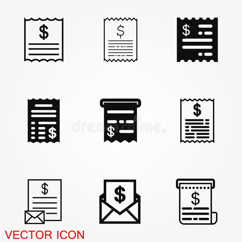 Vector del icono de la factura libre illustration