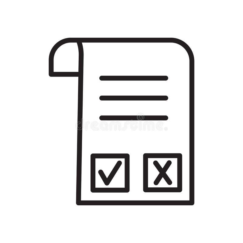 Vector del icono de la factura aislado en el fondo blanco, la muestra de la factura, el símbolo linear y elementos del diseño del stock de ilustración