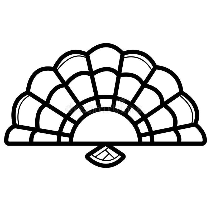 Vector del icono de la fan de la mano stock de ilustración