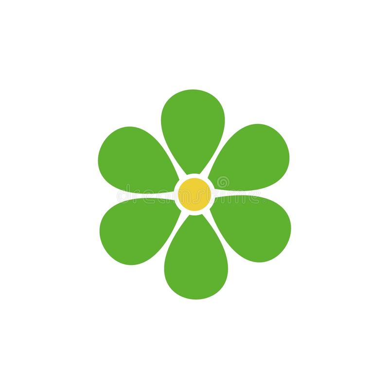 Vector del icono de la flor Logotipo del ejemplo de la flor ilustración del vector