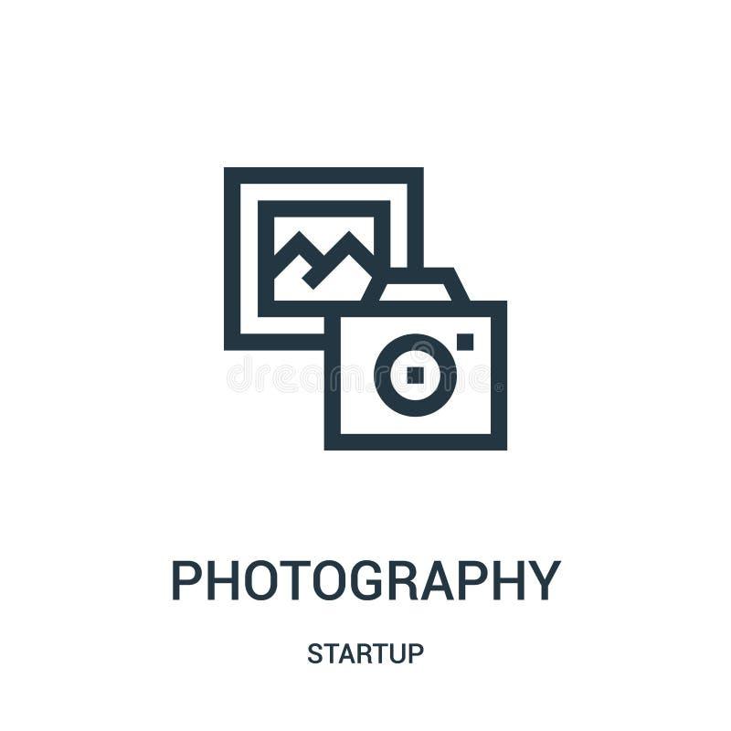 vector del icono de la fotografía de la colección de lanzamiento Línea fina ejemplo del vector del icono del esquema de la fotogr libre illustration