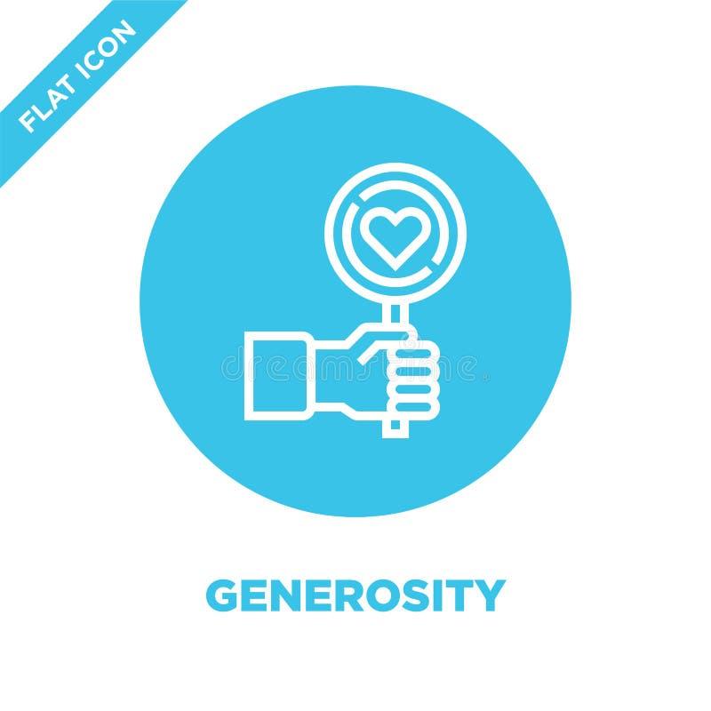 vector del icono de la generosidad de la colección de los elementos de la caridad Línea fina ejemplo del vector del icono del esq libre illustration