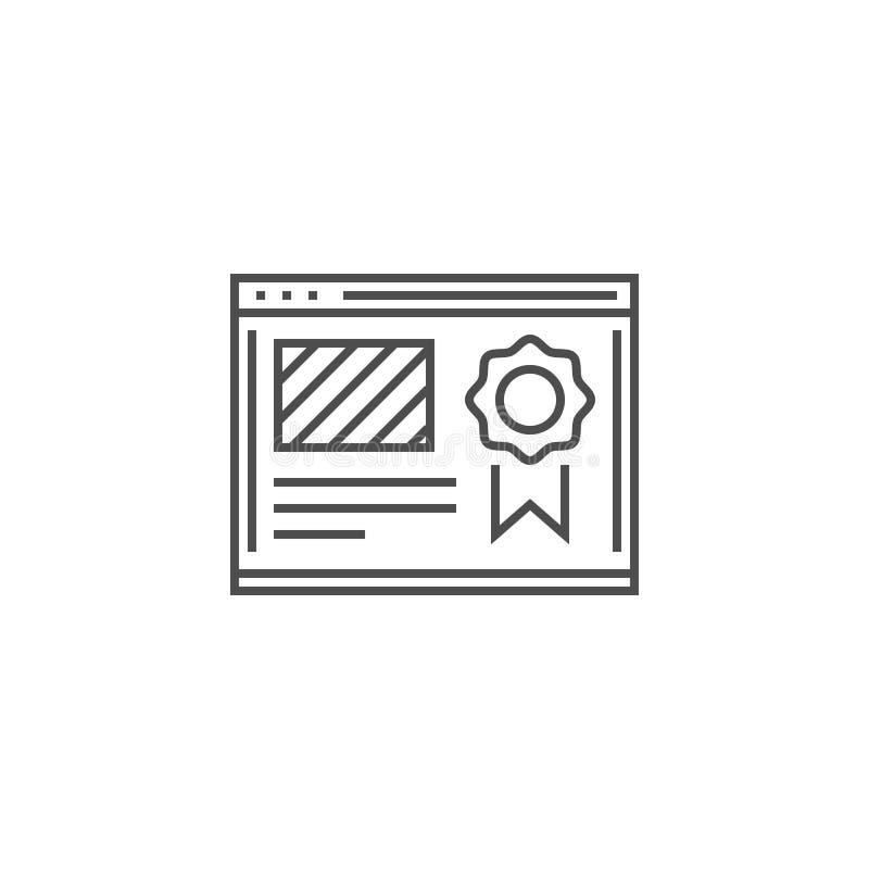 Vector del icono de la graduaci?n del sitio web stock de ilustración