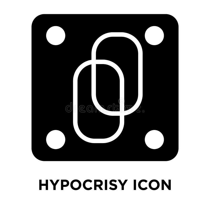 Vector del icono de la hipocresía aislado en el fondo blanco, concepto del logotipo libre illustration