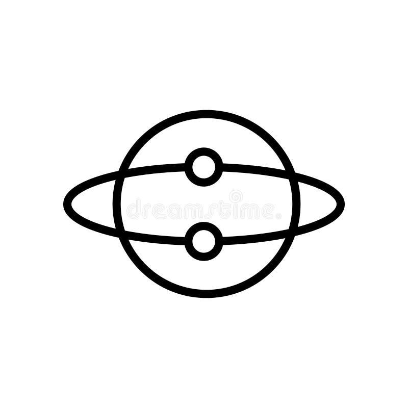 Vector del icono de la idea aislado en el fondo, la muestra de la idea, la línea y los elementos blancos del esquema en estilo li ilustración del vector